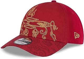 New Era NBA 休斯顿火箭队 9TwENTY 城市系列版后扣帽,可调节红色帽子