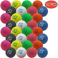 Macro Giant 1.7 英寸泡沫高尔夫球,32 只装,8 种颜色,室内户外,初学者,训练练习