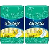 Always 超薄 1 个带护翼的女性卫生巾,36 个装 - 2 个装(共 72 个)