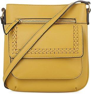 EMPERIA 牛仔布小号锁缝细节人造皮革斜挎包单肩包钱包女式手提包