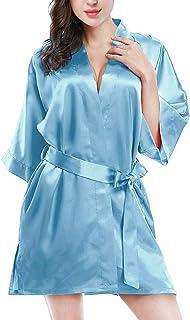 ETAOLINE 女式性感睡衣贴身蕾丝内衣短款和服长袍