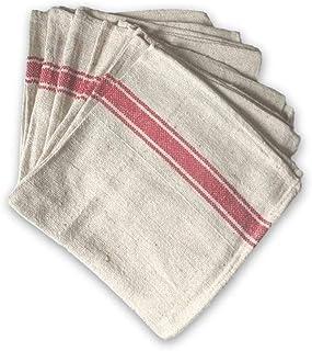 Kalalou 红色条纹棉质厨房毛巾,均码
