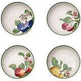 Villeroy & Boch 法国花园现代水果碗 4件套 24厘米 优质瓷器 白色/彩色