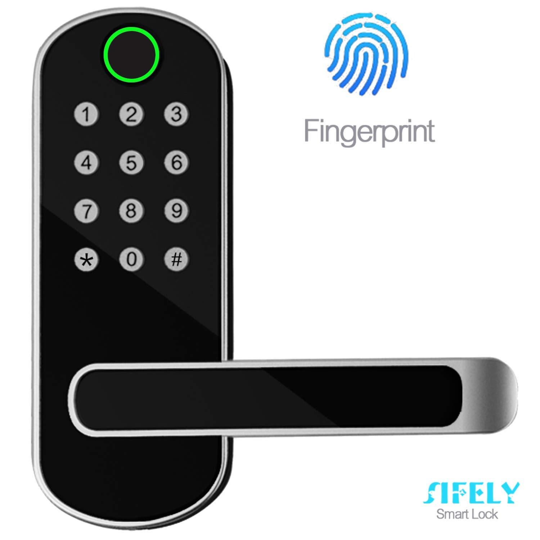 Sifely 无钥匙门锁,键盘门锁,无钥匙门锁,指纹门锁,生物门锁,键盘入口门锁,密码门锁,数字智能门锁(智能锁)