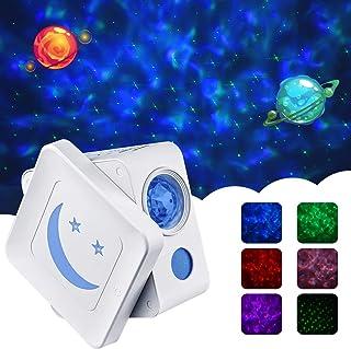 AsperX 夜灯投影机,3 合 1 可调节星星 LED 星星投影仪带定时器自动关闭设计投影灯,适用于儿童房/家庭,是完美的生日圣诞节假期礼物