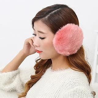 Winter Ear Muffs Imitation Rabbit Hair Ear Cover Oversized Plush Warm Earmuffs Sunset Red