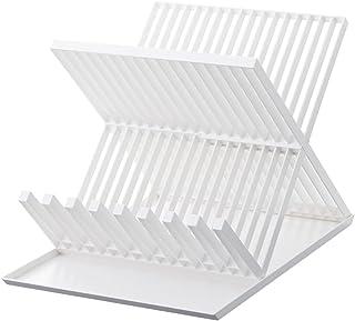 YAMAZAKI 山崎実業 沥水 带托盘的两层碗碟架 淡白色 2624