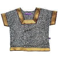印度 Kameez 女婴衬衫 - 丝绸绉纱 中国-动物印花 - 0-12 个月