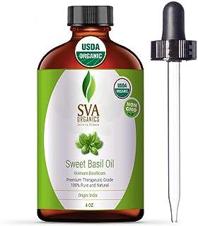 SVA Organics Amla & Bhringraj 油 Sweet Basil
