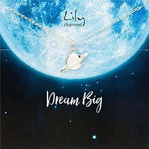 """Lily Charmed 英国设计师品牌"""" 梦想家"""" 银色星球 手工打造 40cm 925银 女士项链 CNSPWR15"""