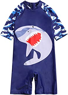 bilison 男婴泳装一件学步儿童拉链泳衣泳装*服冲浪服 UPF 50+ FBA