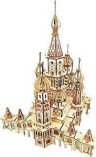 ROBOX 3D 拼图成人工艺品 建筑 Isa Kiev 木制激光切割木材工艺模型套件 组装积木 拼图派对 家居装饰 组装礼物 送给孩子、青少年、丈夫、妻子 4 years - 7 years St. Basil's 大教堂