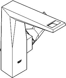 GROHE Allure Brilliant 23109DC0 单杠水槽混合龙头 DN 15 L 码超钢