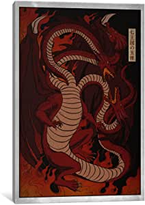 "iCanvasART 3 件套 Targaryen House 带边框 帆布画 由 Darklord 出品,152.4 x 101.6 厘米/3.81 厘米深 12"" x 8"" ICA1261"
