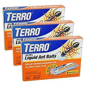 TERRO PreFilled Liquid Ant Killer II Baits 3 件装
