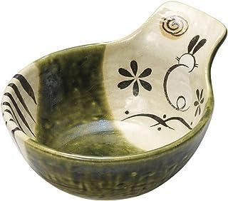 日本式陶 开口 织部兔子 茶杯 [ 15 x 12.1 x 6.9cm ] 日式餐具 餐馆 业务用