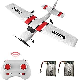 XFUNY 遥控飞机,2.4Ghz 2 通道遥控飞机随时飞行,耐用的 EPP 泡沫遥控飞机,6 轴陀螺仪,儿童男孩初学者遥控飞机