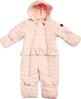 Jessica Simpson 女婴连帽心形防雪服,摇粒绒内衬(新生儿/婴儿)