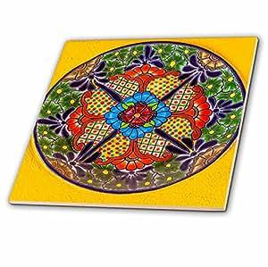 3dRose Danita Delimont - 艺术品 - 彩色手工陶瓷盘,瓜纳华托,墨西哥 - 瓷砖 6-Inch-Ceramic ct_278313_2