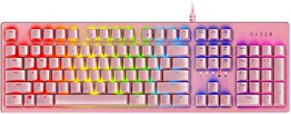 Razer Huntsman Gaming Keyboard: Opto-Mechanical Key Switches - Instant Response Actuation - Customizable Chroma RGB Lighting - Programmable Macro Functionality - Quartz Pink