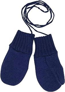 幼儿和儿童手套:*美利奴羊毛雪线手套,带绳