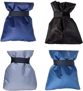 4 件装冬季水龙头套,可重复使用户外水龙头袜保护层防冻围嘴 黑色