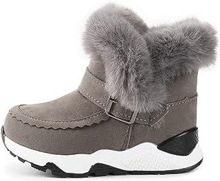 KIDSUN 男童女童雪地靴毛绒保暖冬季徒步防滑橡胶鞋底(幼儿/小童)