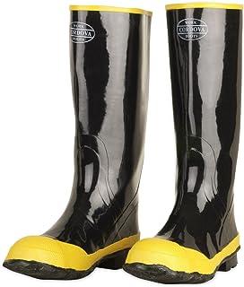 Cordova Safety Products 钢制鞋筒橡胶钢头靴,棉质内衬黑色 Size 15 BST-15