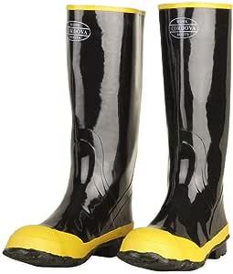 Cordova Safety Products 钢制鞋筒橡胶钢头靴,棉质内衬黑色 Size 9 BST-9