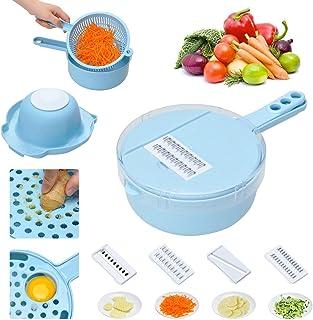 蔬菜切片机 荔枝 10 合 1 多功能厨房工具套装 蔬菜切碎机 食物刨丝机 带替换刀片 鸡蛋分离器 护手