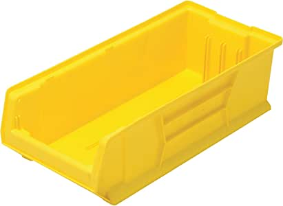 Quantum QUS951 Plastic Storage Stacking Hulk Container, 24-Inch by 8-Inch by 9-Inch, Yellow, Case of 6