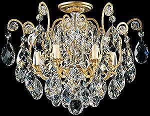 Schonbek 3784-47 施华洛世奇照明复兴嵌入式照明灯具,古银色 需配变压器