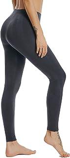 HOFISH 女式中腰无缝打底裤,无透视面料适合日常休闲跑步瑜伽低强度锻炼