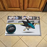Fanmats 19170 球队颜色 48.3 cm x 76.2 cm NHL-San Jose Sharks 刮刀垫 48.3 cm x 76.2 cm-冰球