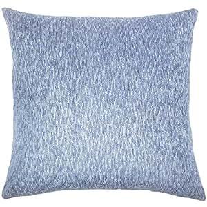 """枕头系列 Haide 纯色欧式枕套靛蓝色 靛蓝色 Euro/26"""" x 26"""" EURO-D-15759-INDIGO-R63P37"""