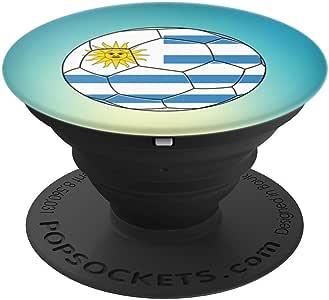 Uruguay Soccer Proud Uruguayan 旗帜 – PopSockets 手机和平板电脑抓握支架260027  黑色