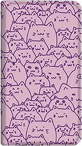智能手机壳 手册式 对应全部机型 薄型印刷手册 cw-266top 套 手册 猫 超薄 轻量 UV印刷 壳wn-0253812-wy Xperia AX SO-01E 图案C
