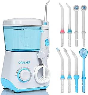 COSTWAY Power 牙线,9 个喷嘴和 10 个压力级别,带有 360 度旋转喷嘴的*口腔冲洗器,成人和儿童适用,适合家庭使用