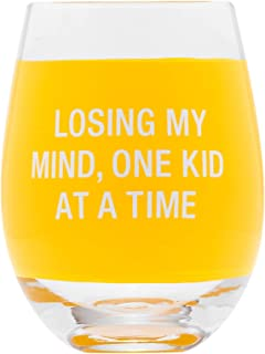 Losing My Mind, One Kid At A Time 阳光黄色 453.59 毫升玻璃酒杯
