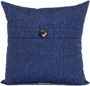 Brentwood Originals 35635 Indoor/Outdoor Toss Pillow with Button, 17-Inch, Carsten Indigo