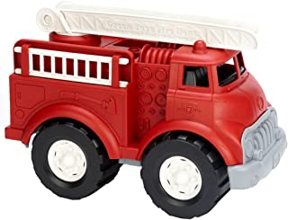Green Toys 消防车 想象力儿童玩具-不含BPA或邻苯二甲酸盐 可提高精细运动能力,提高运动技能