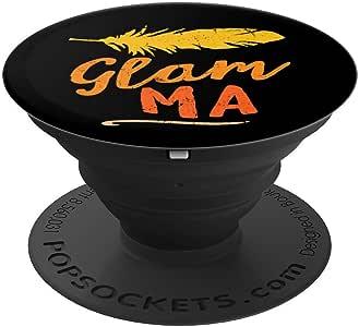 Glam-Ma 祖母母亲节礼物 PopSockets 手机和平板电脑握架260027  黑色