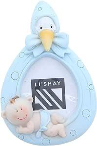 Li'Shay 迷你蓝色婴儿男孩相框 蓝色 3.25 x 3.25 LSPF0015BL