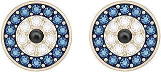 施华洛世奇水晶愿望邪眼穿孔耳环,多色镀玫瑰金
