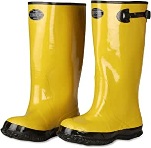 Cordova Safety Products 17-Inch Over-Shoe Style Rubber Slush Boot, Yellow 黄 7号
