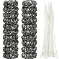 Shappy 20 件棉绒陷阱洗衣机绒陷阱零食洗衣网洗涤器软管过滤器,带 20 个线束