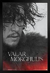 Pyramid America Game of Thrones Valar Morghulis Jon Snow HBO 中世纪幻想电视剧 裱框海报 14x20 inches 98373