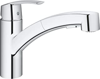GROHE Start 厨房水槽水槽龙头 低排水,抽出的淋浴盆 30307000,铬