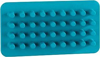 WENKO 刺猬 Ampio Petrol-Cosmetic 收纳盒,化妆收纳盒,无钻孔,硅胶,蓝*,2 x 15 x 8 厘米
