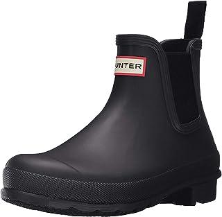 Hunter 女式 W ORG Chelsea RMA 惠灵顿靴 Black (Black) 6 UK